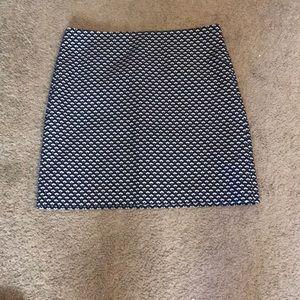 Navy pattern skirt